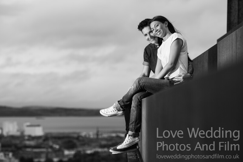 Calton Hill Pre-Wedding Photo Shoot - Donna and Leanne-1060