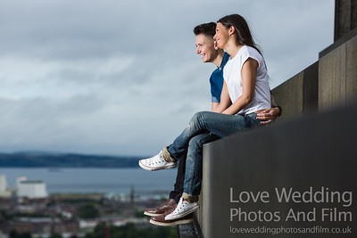 Calton Hill Pre-Wedding Photo Shoot - Donna and Leanne-1005