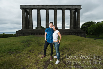 Calton Hill Pre-Wedding Photo Shoot - Donna and Leanne-1001