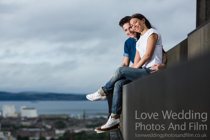 Calton Hill Pre-Wedding Photo Shoot - Donna and Leanne-1006