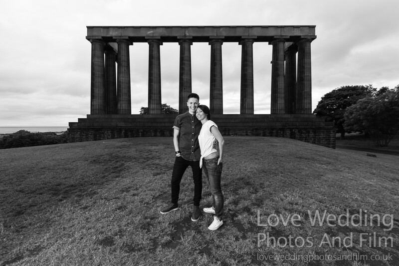 Calton Hill Pre-Wedding Photo Shoot - Donna and Leanne-1054