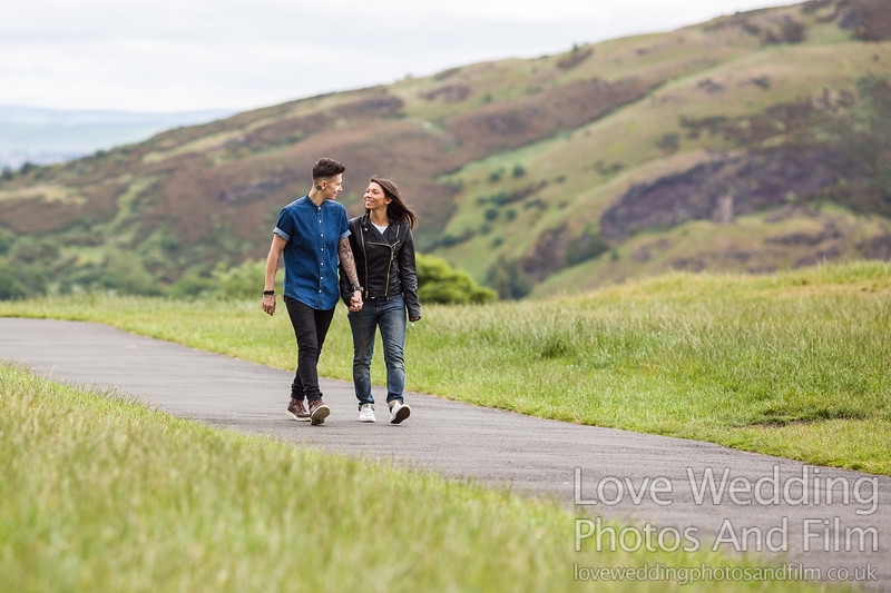 Calton Hill Pre-Wedding Photo Shoot - Donna and Leanne-1033
