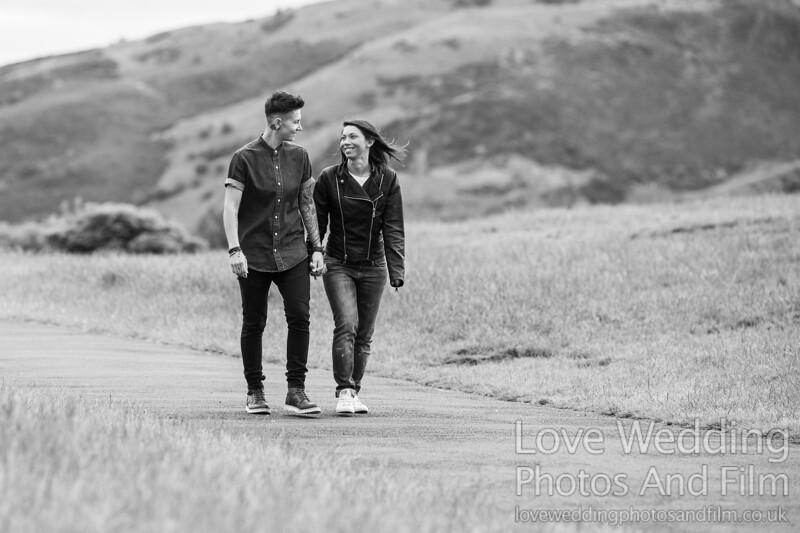 Calton Hill Pre-Wedding Photo Shoot - Donna and Leanne-1089
