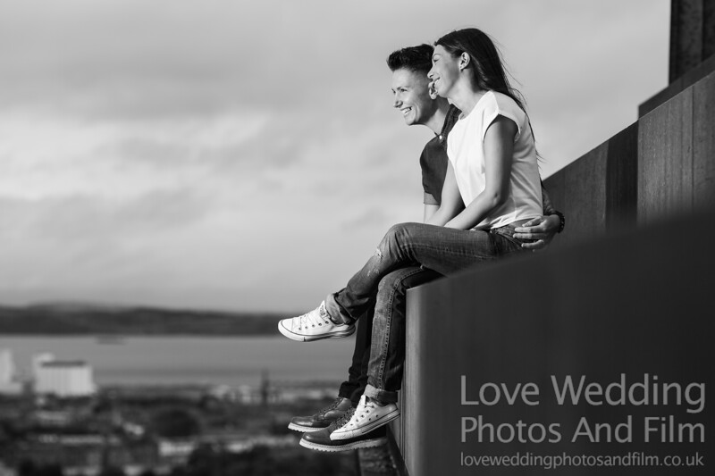 Calton Hill Pre-Wedding Photo Shoot - Donna and Leanne-1059