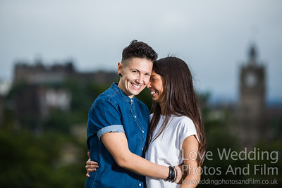 Calton Hill Pre-Wedding Photo Shoot - Donna and Leanne-1009