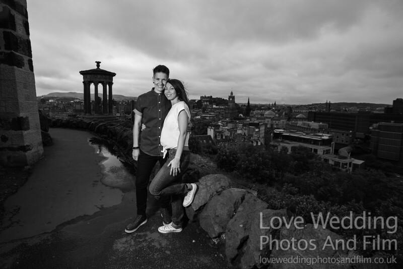 Calton Hill Pre-Wedding Photo Shoot - Donna and Leanne-1066
