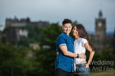 Calton Hill Pre-Wedding Photo Shoot - Donna and Leanne-1011