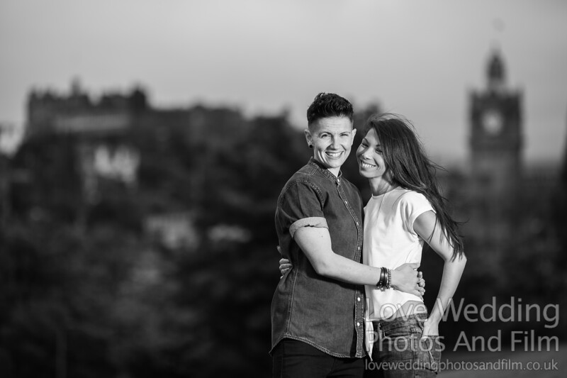 Calton Hill Pre-Wedding Photo Shoot - Donna and Leanne-1065