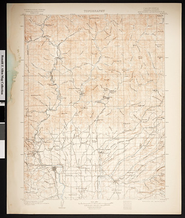 California. Redding quadrangle (30'), 1901 (1905)