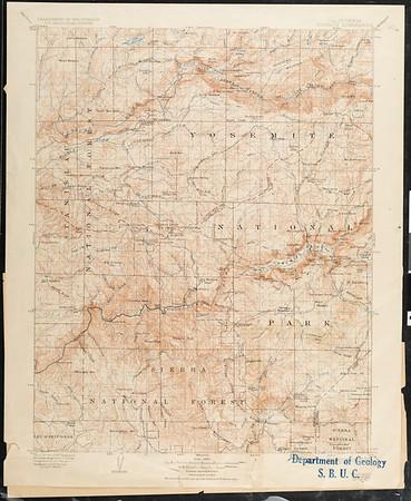 California. Yosemite quadrangle (30'), 1909 (1923)