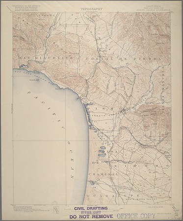 California. Arroyo Grande quadrangle (15'), 1897 (1918)