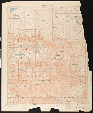 California. San Gorgonio quadrangle (30'), 1902 (1911)