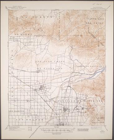 California. Anaheim quadrangle (15'), 1901 (1944)