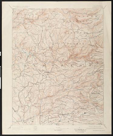 California. Placerville quadrangle (30'), 1893 (1928)