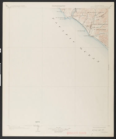 California. Capistrano quadrangle (30'), 1902 (1909)