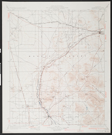 California. Barstow quadrangle (30'), 1934