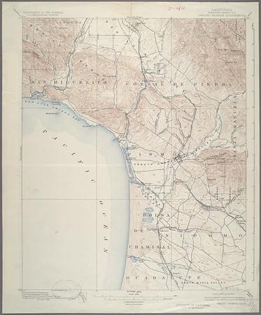 California. Arroyo Grande quadrangle (15'), 1897 (1925)
