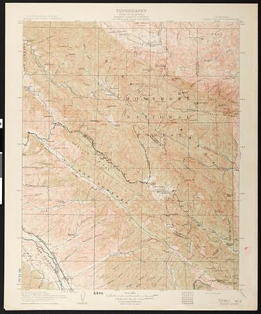 California. Priest Valley quadrangle (30'), 1915