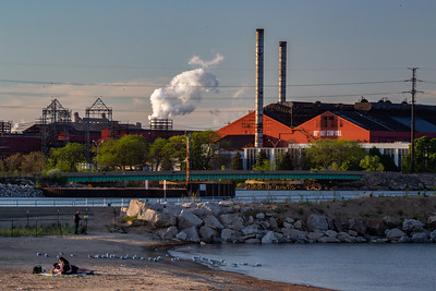 IMG_2392.jpg Lake Michigan shoreline park in East Chicago, Indiana with the ArcelorMittal 80 inch hot strip mill in the background. 5/23/19