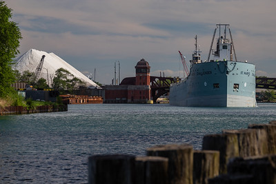 IMG_1692.jpg  Cement carrying vessel, St Mary's Challenger, heading past the 100th St. bridge and up the Calumet River towards Lake Michigan. 8/11/20