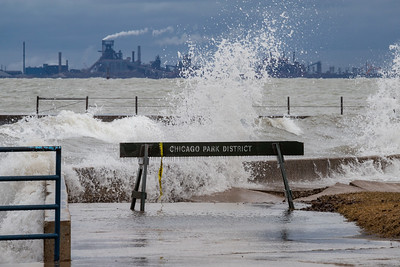 IMG_8896.jpg  Extremely high water levels on Lake Michigan at Calumet Park in Chicago undermining cement walk ways which are normally 50 to 100 yards from the water's edge. 3/6/20