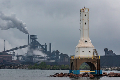 IMG_7482.jpg Entrance to Indiana Harbor in East Chicago, Indiana and ArcelorMittal steel mill. 6/9/19