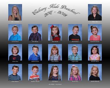 Calvary Kids Preschool 4yr 2017