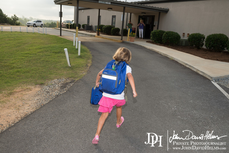 August 13, 2013 - JDH first day of K3, CMH first day of 1st grade at Calvary.