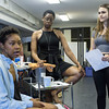 "From left; Adrianna Mitchell, Moses Ingram, and Isabel Pask rehearse their lines for the ""Community Engagement Project"" held at Bratton Theater on July 4 and July 5. The new piece is created with and for the Chautauquan community. CAM BUKER/STAFF PHOTOGRAPHER"