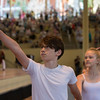 Vincent Philp; dancer for School of American Ballet, performs with his company members at the conclusion of the Amphitheater Celebration on Sunday, July 2, 2017. CAM BUKER/STAFF PHOTOGRAPHER.