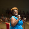 "Singer Capathia Jenkins, performs ""America the Beautiful"" during the Independence Day Celebration on Tuesday, July 4, 2017 in the Amphitheater. CAM BUKER/STAFF PHOTOGRAPHER"