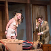 "Kelsey Jenison, left, and Patrick Foley perform a scene from ""Noises Off"" in Bratton Theater on June 29, 2017. ""Noises Off"" is a play within a play, and it kicks off the 2017 CTC season at 8:00 PM on June 30, 2017. CAM BUKER/STAFF PHOTOGRAPHER"
