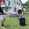 "Sean Naimoli; left, and Nathan Chubb, play ""Kan Jam"" frisbee at the 125th Anniversary Boys' and Girls' Club of Chautauqua celebration. CAM BUKER/STAFF PHOTOGRAPHER."