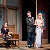 """From left; Emily Daly, Craig Wesley Divino and Kelsey Jenison perform a scene during a dress rehearsal for Chautauqua Theater Company's production of """"Noises Off"""" in Bratton Theater on June 29, 2017. """"Noises Off"""" is a play within a play, and it kicks off the 2017 CTC season at 8:00 PM on June 30, 2017. CAM BUKER/STAFF PHOTOGRAPHER"""