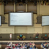 Obi Felton, left, speaks at the Amphitheater on Monday, June 26, 2017. Felton currently leads the early stage projects at X, the team behind self-driving cars. CAM BUKER/STAFF PHOTOGRAPHER