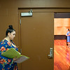 Alexis Seminario, left, waits her turn to sing at Fletcher Music Hall on June 27, 2017. CAM BUKER/STAFF PHOTOGRAPHER