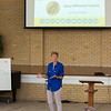 """Beth Stevens, current co-chair of the board of the Jane Gooddall Institute, discusses the topic """"Every Milkweed Counts"""" at Smith Wilkes Hall on Monday, July 3, 2017. CAM BUKER/STAFF PHOTOGRAPHER"""