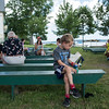 Nicholas Ritacco, 6, takes some time for himself during the 125th Anniversary Boys' and Girls' Club celebration. CAM BUKER/STAFF PHOTOGRAPHER.