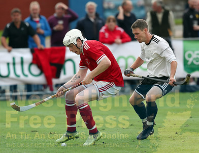 Jordan Fraser takes control for Shiel with Daniel Grieve watching carefully.