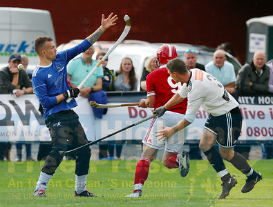 Keith MacRae fires home his and Shiel's second goal of the game.