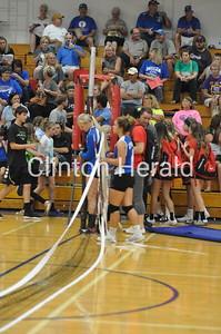 Camanche Senior Night volleyball vs. Northeast (9-20-16)