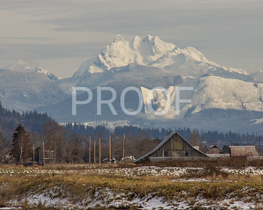 Three Fingers mountain showing from Stanwood, WA