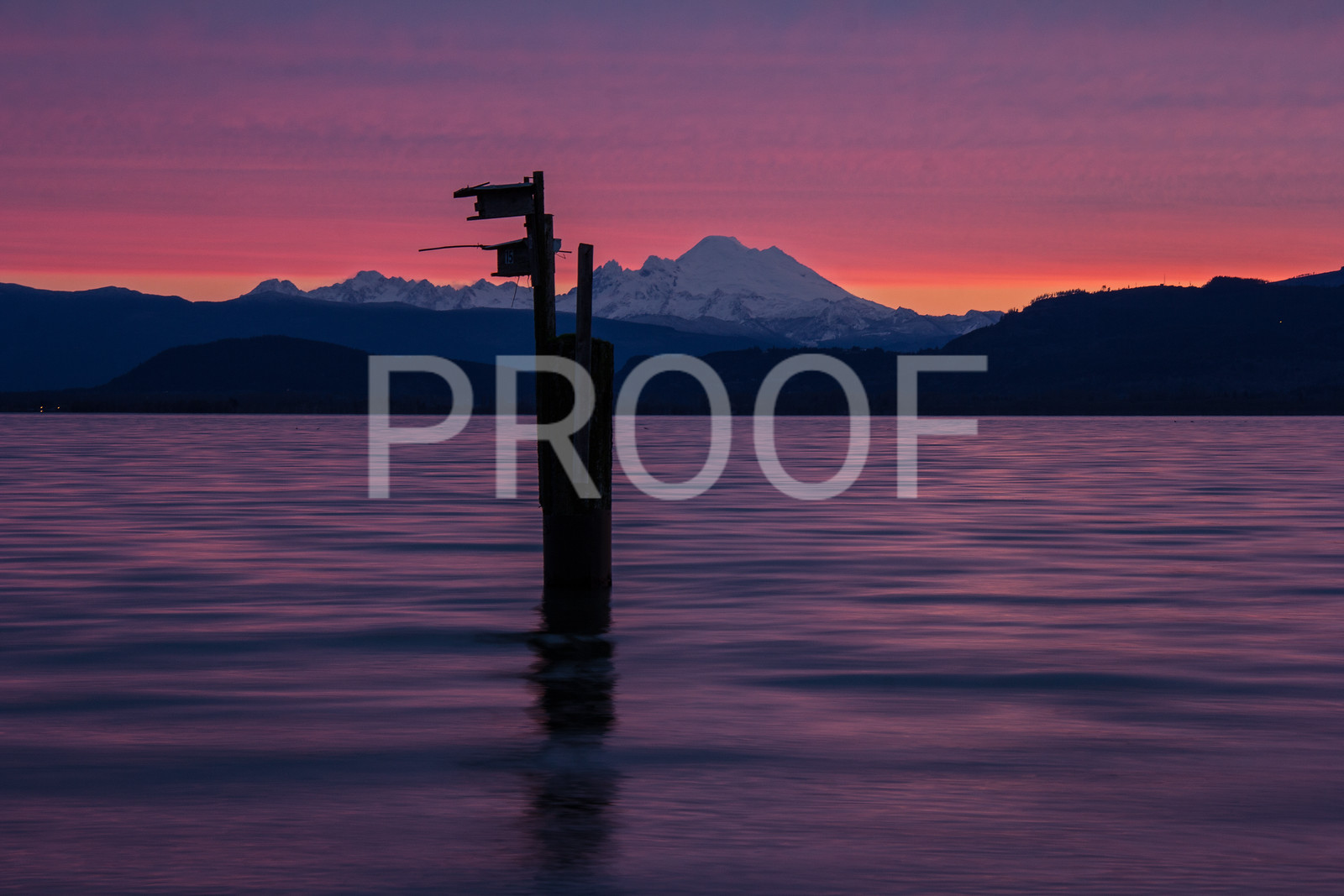 Mount Baker showing from Camano Island