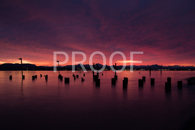 Glow before sunrise in Camano Island