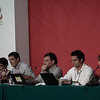 """Cancún Messe: Side event """"Biodiversidad y cambio climático: Percepciones regionales en REDD y gobernabilidad de bosques en la cuenca amazónica"""", organizado por IDESAM y FFLA. De izquierda a derecha: María Eugenia de Paola (PCL), Yan Speranza (PCL), Virgilio Viana (Fundación Amazonas Sustentable), Mariano Cenamo (IDESAM) y Andrea Garzón (ARA)."""