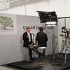Cancún Messe: Un estudio montado para las entrevistas oficiales en el espacio de los side events.