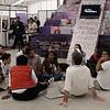 Cancún Messe: Fuerte presencia de jóvenes en los espacios de stands de organizaciones de la sociedad civil.