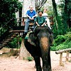 Us on elephant in Siem Reap