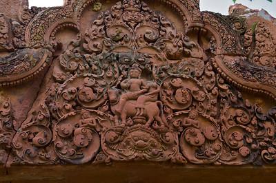 Shiva and wife, Uma, riding his bull, Nandi