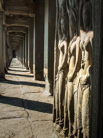 Three Ladies, Angkor Wat